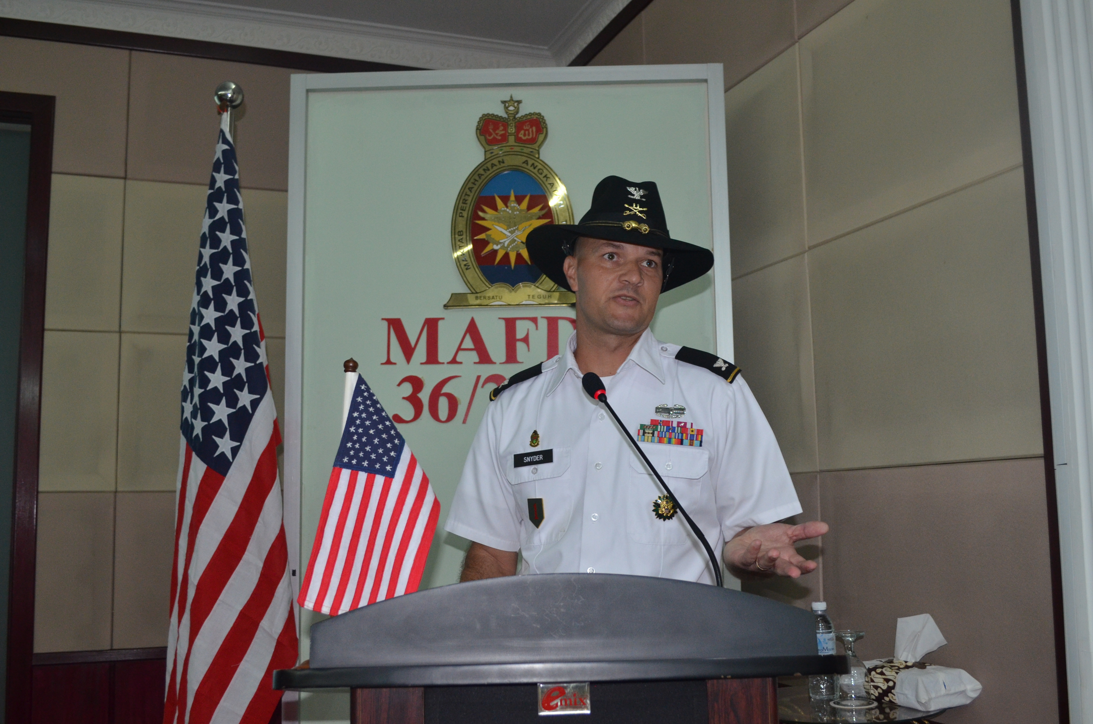 Col Frederick delivered a brief on United States of America